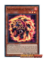 Salamangreat Spinny - SDSB-EN004 - Super Rare - 1st Edition