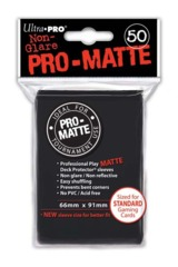 Ultra Pro Matte Non-Glare Large Sleeves 50ct. - Black (#82728)