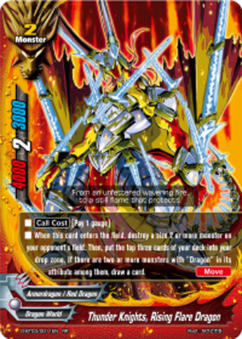 Thunder Knights, Rising Flare Dragon [D-BT03/0011EN RR (FOIL)] English