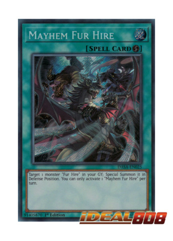 Mayhem Fur Hire - DASA-EN025 - Secret Rare - Unlimited
