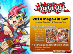 Yugioh 2014 Mega-Tin Set - Bujintei Susanowo & Brotherhood of the Fire Fist - Tiger King