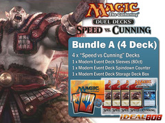 Magic Duel Deck - Speed vs Cunning Bundle (A) -  Get x4 Decks + FREE Bonuses (Sleeves & Counter)