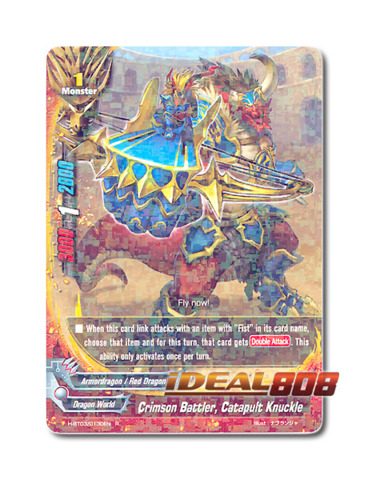 Crimson Battler, Catapult Knuckle [H-BT03/0130EN R] English Foil