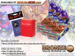 CFV-V-EB01  Bundle (A) Bronze - Get x3 The Destructive Roar Cardfight Vanguard Booster Box + FREE Bonus Items * Ships Aug.03