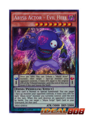Abyss Actor - Evil Heel - DESO-EN016 - Secret Rare - 1st Edition