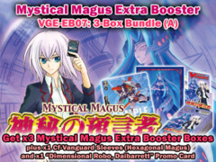 Cardfight Vanguard EB07 Bundle (A) - Get x3 Mystical Magus Extra Booster Box + Cf-Vanguard Sleeves & More