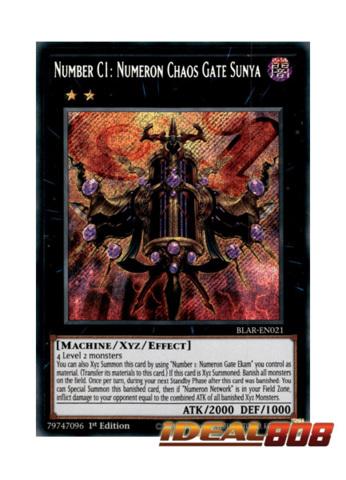Number 2 Numeron Gate Dve Ultra Rare YUGIOH Card Mint Near Mint Condition