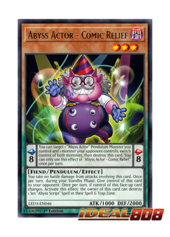 1st Edition LED3-EN049 - Common 3 x Abyss Actors/' Curtain Call