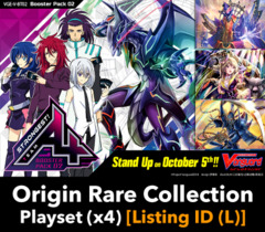 # Strongest! Team AL4 [V-BT02 Listing ID (L)] Origin Rare Collection Playset [Includes 4 of each OR's (16 total)]