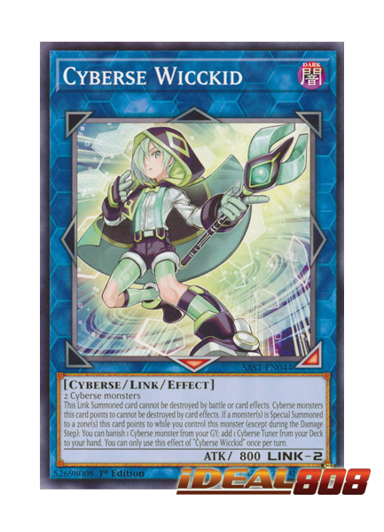 Cyberse Wicckid SAST-EN044 Common Yu-Gi-Oh Card 1st Edition New
