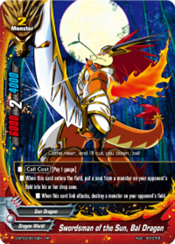 Swordsman of the Sun, Bal Dragon [D-BT03/0010EN RR (FOIL)] English
