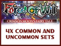 The Crimson Moon's Fairy Tale (CMF) Complete Set of Commons/Uncommons x4 (Does NOT include Basic Magic Stones)