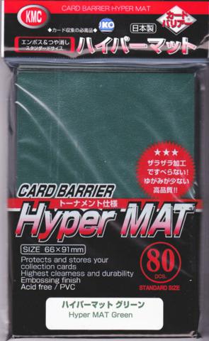 KMC Card Barrier Hyper Mat (80ct) Large Sleeves - Green
