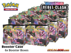 SS Sword & Shield: Rebel Clash (SS02) Pokemon Booster  Case [6 Boxes] * PRE-ORDER Ships May.01