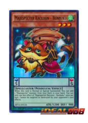 Majespecter Raccoon - Bunbuku - MP16-EN126 - Ultra Rare - 1st Edition