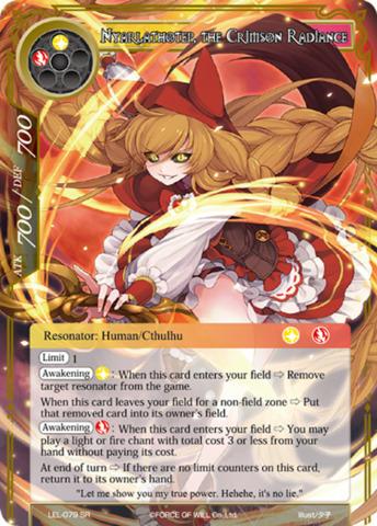 Nyarlathotep, the Crimson Radiance [LEL-079 SR (Regular)] English