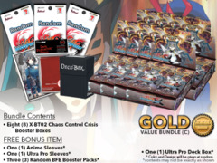 FC-Buddyfight X-BT02 Bundle (C) Gold - Get x8 Chaos Control Crisis Booster Box + FREE Bonus Items