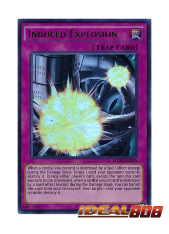 Induced Explosion - MVP1-EN009 - Ultra Rare - Unlimited Edition