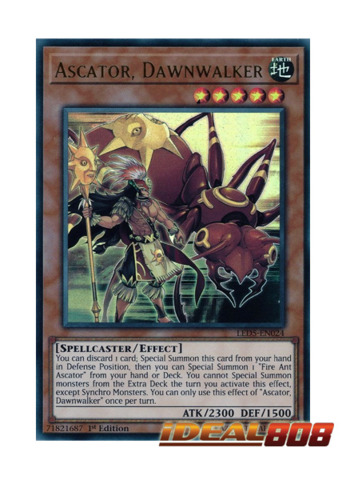 Ascator, Dawnwalker - LED5-EN024 - Ultra Rare - 1st Edition