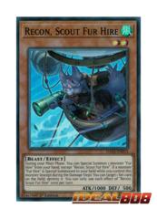 Recon, Scout Fur Hire - DASA-EN015 - Super Rare - 1st Edition
