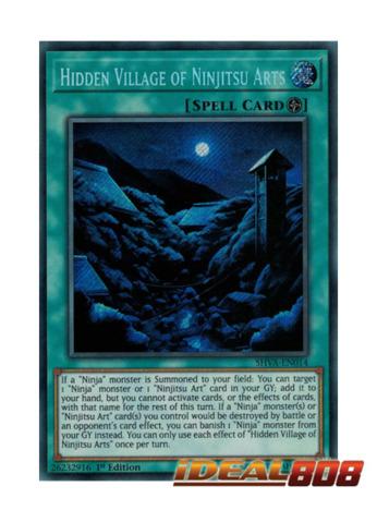 Hidden Village of Ninjitsu Arts - SHVA-EN014 - Secret Rare - 1st Edition