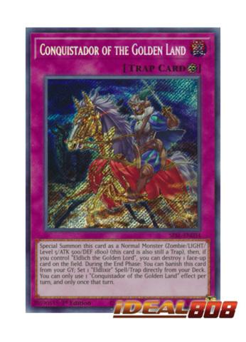 - Secret Rare SESL-EN034 1st Edition Conquistador of the Golden Land