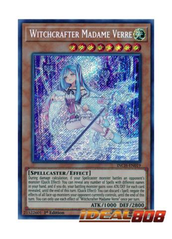 Witchcrafter Madame Verre - INCH-EN019 - Secret Rare - 1st Edition