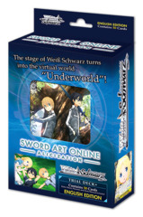 Sword Art Online -Alicization- (English) Weiss Schwarz Trial  Deck+ Box [Contains 6 Decks] * PRE-ORDER Ships Feb.28