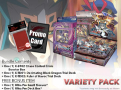 FC-Buddyfight X-BT02 X-TD01 X-TD02 Varity Pack - Get x1 Chaos Control Crisis Booster Box; x1 of each X-TD Decks