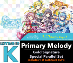 # Primary Melody [V-EB05 ID (K)] Gold Signature Special Parallel Set [Includes 1 of each Gold Version SSP's (9 cards)]