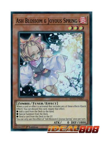 Ash Blossom & Joyous Spring - SHVA-EN047 - Super Rare - 1st Edition
