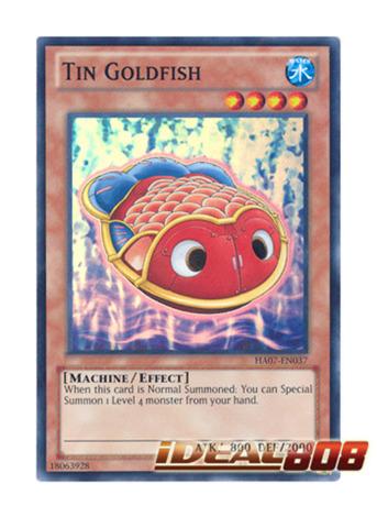 Tin Goldfish - HA07-EN037 - Super Rare - Unlimited Edition
