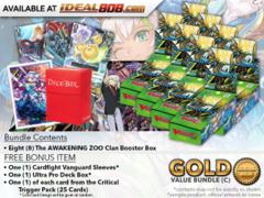 Cardfight Vanguard G-EB02 Bundle (C) Gold - Get x8 The AWAKENING ZOO Booster Box + FREE Bonus Items * PRE-ORDER Ships Jan.26
