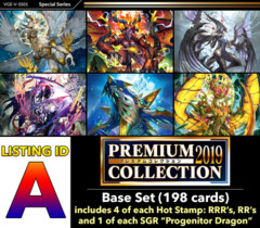 # PREMIUM COLLECTION 2019 [V-SS01 ID (A)] Premium Set [Includes 4 of each Hot Stamp RRR's, RR's + 1 of each SGR's (198 cards)]