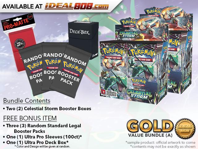 Pokemon SM07 Bundle (A) Gold - Get x2 Celestial Storm Booster Box + FREE Bonus * PRE-ORDER Ships Jul.30