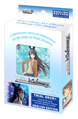 Rascal Does Not Dream of Bunny Girl Senpai (English) Weiss Schwarz Trial Deck+ (Plus) * PRE-ORDER Ships Nov.15
