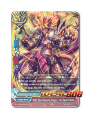 Fifth Omni Cavalry Dragon, Fire Sword Doble [H-BT03/0009EN RR] English Foil