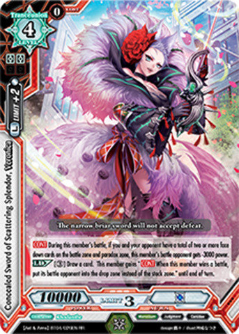 Concealed Sword of Scattering Splendor, Veronica - BT04/026EN - SP (SIGNED FOIL)