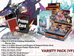 FC-Buddyfight X-BT01A X-SD01 X-SD02 Variety Pack - Get x1 Crossing Generations Booster Box; x1 of each X-SD Decks