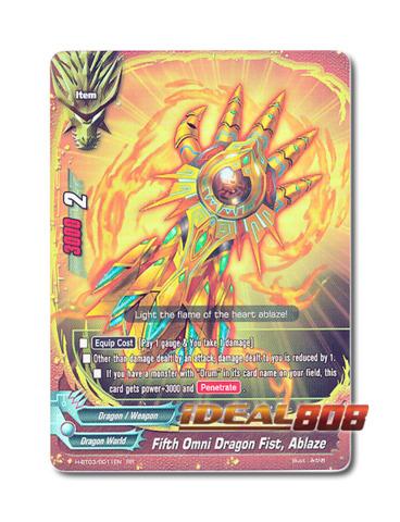 Fifth Omni Dragon Fist, Ablaze [H-BT03/0011EN RR] English Foil
