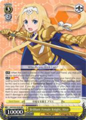 Brilliant Female Knight, Alice [SAO/S65-E004 RR (Mosaic Gloss)] English