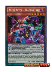 Abyss Actor - Leading Lady - DESO-EN021 - Secret Rare - 1st Edition