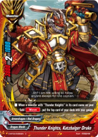 Thunder Knights, Katzbalger Drake [D-BT03/0085EN C] English