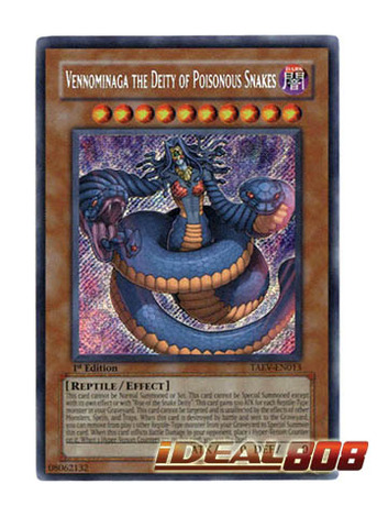 Vennominaga the Deity of Poisonous Snakes - TAEV-EN013 - Secret Rare - 1st Edition