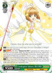 Cardcaptor Sakura: RECORD  [CCS/WX01-034S SR (FOIL)] English