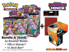 Pokemon SM11 Bundle (A) Gold - Get x2 Unified Minds Booster Box + FREE Bonus Items