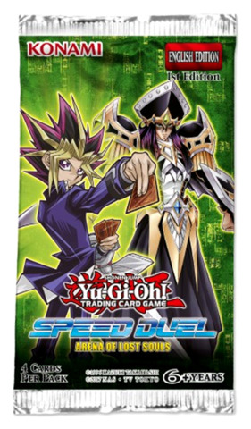 Arena of Lost Souls (1st Edition) Yugioh Speed Duel Booster Pack [4 Cards]