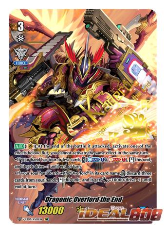 Dragonic Overlord the End - V-EB07/XV01EN - XVR (Twin Vanguard Rare -  Parallel Alternate Art)