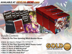 Force of Will Bundle (A) Gold - x3 The Time Spinning Witch Booster Boxes + FREE Bonus * PRE-ORDER Ships Mar.9