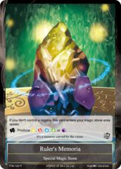 Ruler's Memoria [TTW-102 R (Foil)] English